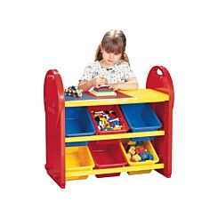 Childrens Plastic Storage 6 Bin Play Organiser