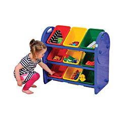 Childrens Plastic Storage 9 Bin Organiser