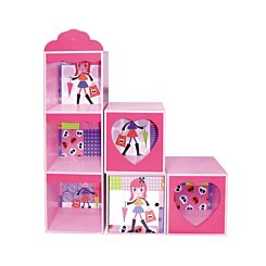 Fashion Girl Wooden Shelf and Stacking Storage Units