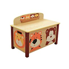 Childrens Jungle Wooden Toy Box Large