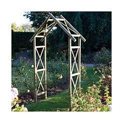 Rowlinson Rustic Garden Arch Trellis