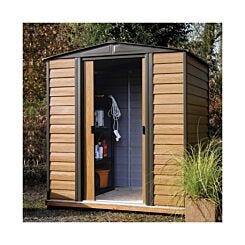 Rowlinson Woodvale Metal Garden Shed 6 x 5Ft