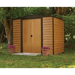 Rowlinson Woodvale Metal Garden Shed 8 x 6Ft