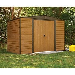 Rowlinson Woodvale Metal Garden Shed 10 x 6Ft