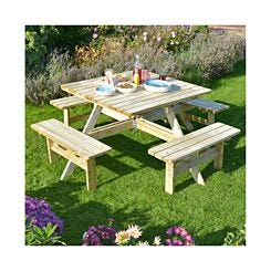 Rowlinson Square 8 Seater Picnic Table