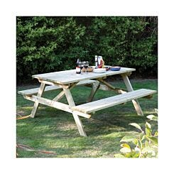 Rowlinson 6 Seater Picnic Table 5Ft