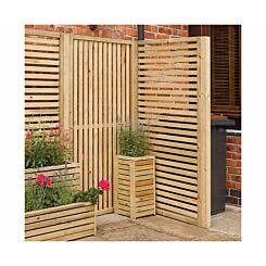 Rowlinson Garden Creations Horizontal Slat Panel Pack of 4