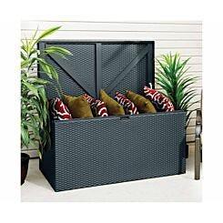Rowlinson Metal Deck Box Garden Storage Anthracite