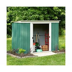 Rowlinson Metal Garden Pent Shed 6 x 4ft