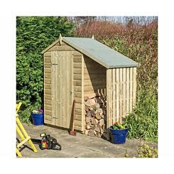 Rowlinson Oxford Garden Shed 4 x 3ft with Lean