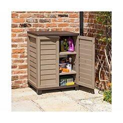 Rowlinson Plastic Garden Utility Cabinet Mocha