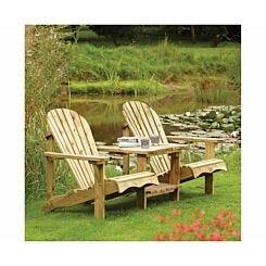 Rowlinson Softwood Adirondack Garden Companion Seat