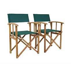 Charles Bentley Folding Garden Chair Set of 2