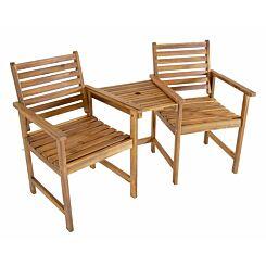 Charles Bentley FSC Acacia Garden Companion Seat