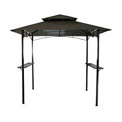 Charles Bentley Steel Gazebo Canopy 8ft x 5ft Grey