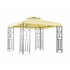 Charles Bentley Luxury Steel Gazebo 3M x 3M