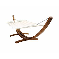 Charles Bentley Double Freestanding Hammock with Wooden Arc Stand