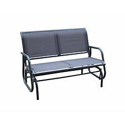 Charles Bentley Twin Glider Rocking Bench with Mesh Seat