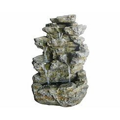 Charles Bentley Decorative Garden Stone Water Feature with LED Lights