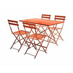 Charles Bentley Rectangular Metal Folding Dining Set