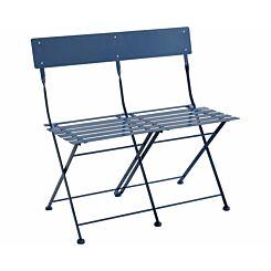 Charles Bentley Metal Folding Garden Bistro Bench