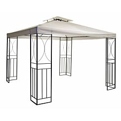 Charles Bentley Steel Gazebo 3M x 3M with Fly Screen