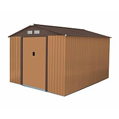 Charles Bentley Metal Garden Shed 8 x 10Ft