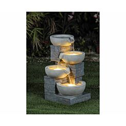 Charles Bentley 4 Cascading Bowls Garden Water Feature