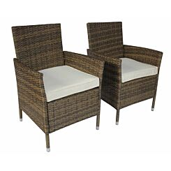Charles Bentley Rattan Dining Chairs Set of 2