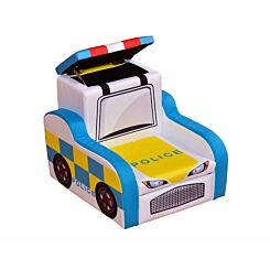 Childrens Police Car Chair with Storage