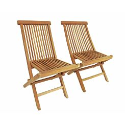 Charles Bentley Pair of Solid Wooden Teak Folding Chairs