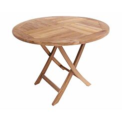 Charles Bentley Solid Wooden Teak Round 2-4 Seater Table