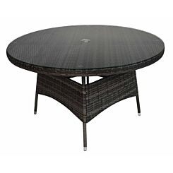 Charles Bentley Rattan Dining Table 6 Seater