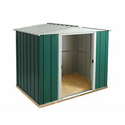 Rowlinson Greenvale Metal Apex Shed with Floor 8ft x 6ft