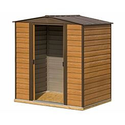 Rowlinson Woodvale Metal Apex Shed with Floor 6ft x 5ft