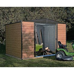 Rowlinson Woodvale Metal Apex Shed With Floor 10ft x 6ft