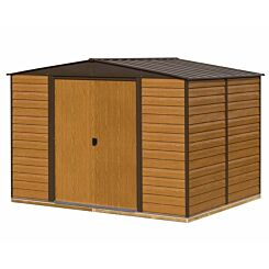 Rowlinson Woodvale Metal Apex Shed With Floor 10ft x 8ft