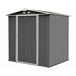 Rowlinson Metal Ezee Shed Grey 6ft x 5ft