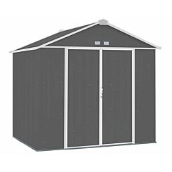 Rowlinson Metal Ezee Shed Grey 8ft x 7ft