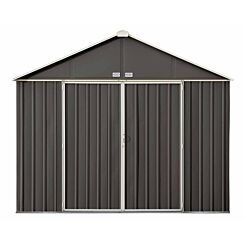Rowlinson Metal Ezee Shed Grey 10ft x 8ft