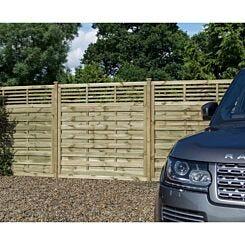 Rowlinson Langham Garden Screen Fencing 6ft x 6ft Pack of 3