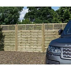 Rowlinson Langham Garden Screen Fencing 6ft x 5ft