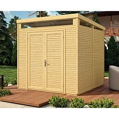 Rowlinson Unpainted Pent Security Shed 8ft x 8ft