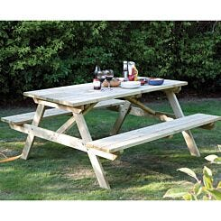 Rowlinson 6ft Wooden Picnic Bench