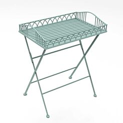 Charles Bentley Wrought Iron Butler Tray Sage Green