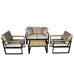 Charles Bentley Extrusion Aluminium Lounge Set