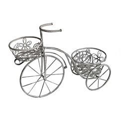 Charles Bentley Wrought Iron Tricycle Planter