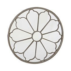 Charles Bentley Flower Round Mirror Cream