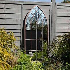 Charles Bentley Arch Outdoor Mirror Grey