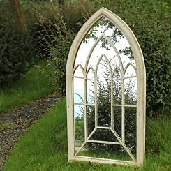 Charles Bentley Arch Outdoor Mirror Cream